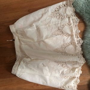 Topshop Embroidered Skirt NWT